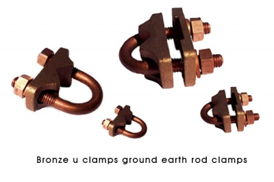 Bronze Guv Clamps U Clamps bolt Rod to Cable Clamp