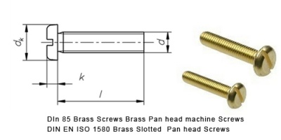 din_85_brass_screws_brass_pan_head_machine_screws_din_en_iso_1580_brass_slotted__pan_head_screws
