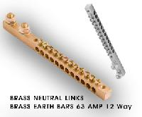 Brass Neutral Links Brass Earth bars  Brass Neutral links Terminals