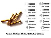 Brass Screws Brass Machine Screws