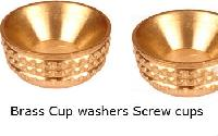 Brass Screw Cups Sockets Brass Turned Screw Cup inserts Cup Washers
