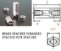 BRASS SPACERS THREADED SPACERS PCB SPACERS