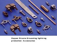 Copper grounding clamps,Copper grounding connectors, Copper grounding accessories, Bronze clamps, Bronze grounding Accessories, Earth Clamps  ,Lightning protection accessories