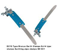 EC15 Ec 14 type clamps  Type Bronze Earth Clamps Earthing pipe clamps  Copper earth pipe clamps