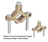 Bronze Grounding Clamps  Copper Grounding  Clamps Direct Burial Pipe clamps Rebar Pipe clamps